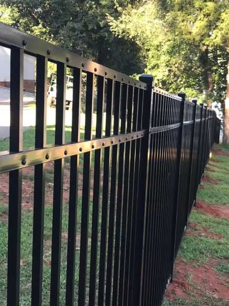 three rail aluminum fence installation in Baltimore ohio