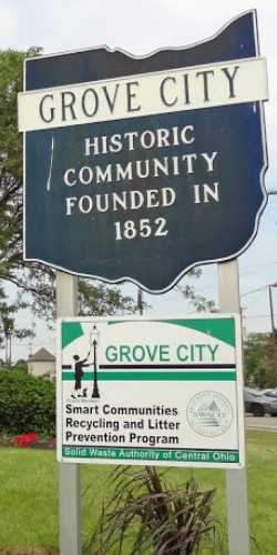 Sign for Grove City Ohio